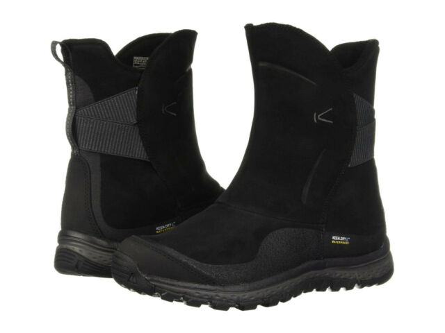 Keen Womens Winterterra Leather Waterproof Winter Snow Cold Weather Boots Shoes