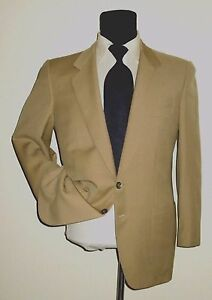 Image is loading Ermenegildo-Zegna-two-button-beige-jacket-sport-coat- ecffa367ada
