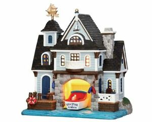 NUOVO-Lemax-Village-COLLECTABLES-The-Boat-House-miniatura-Fairy-Garden-House