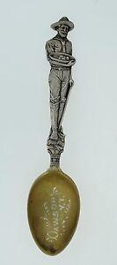 Mayer-amp-Bros-Sterling-Souvenir-Spoon-Full-Body-MINER-Dawson-YT-Lucky-Strike