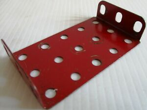 Original Paar Marken Schrecklicher Wert 51 Flanschplatte 5 X 3 Mitte Rot Meccano Verwendet