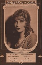 """Lillian Gish Pictured On Cover Appearing Soon in """"Way Down East"""" 1920"""