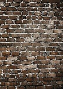 ! 8 SHEETS EMBOSSED BUMPY BRICK stone wall 21x29cm SCALE 1/12 CODE Gfh33