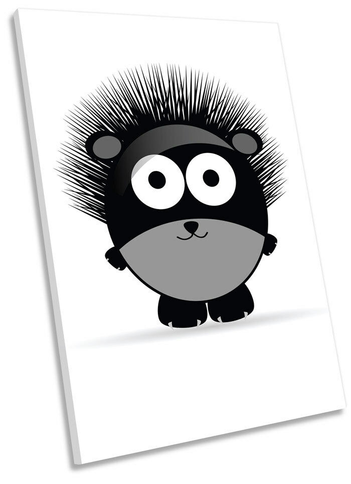 Carino HEDGEHOG kids Room PICTURE Framed CANVAS WALL ART PICTURE Room PRINT ea6f2a