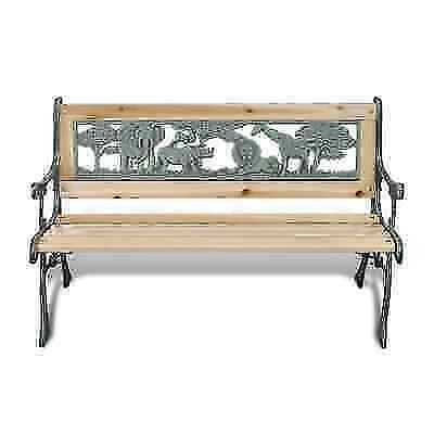Magnificent 3 Seater Outdoor Wooden Garden Bench Cast Iron Legs Park Seat Furniture Chairs Ocoug Best Dining Table And Chair Ideas Images Ocougorg