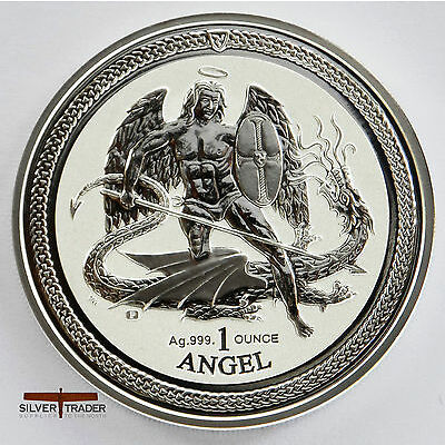 The 2016 Isle of Man Angel 1 ounce silver bullion coin