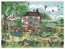 Whippet Greyhound dog Jardín watercolor/ink Pintura 50 Perros por Bridgette Lee