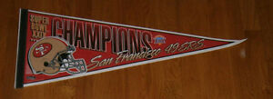 1994-San-Francisco-49ers-Super-Bowl-XXIX-Champs-pennant-Steve-Young-Rice-SB-29