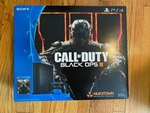 Sony Playstation 4 Ps4 Console Bundle With Call Of Duty Black