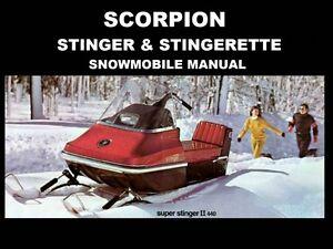 Scorpion Stinger Stingerette Operation Part Manuals For 1967 1968