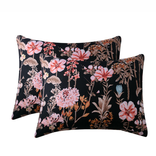 2Pcs Flower Pillow Case Sets Queen King Size Bedding Set Sheets Pillowcase Cover