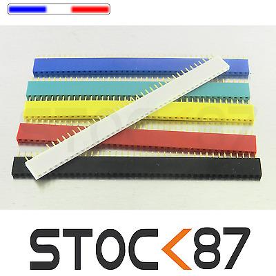 931M# 6pcs barrette femelle 40 pins 6 couleurs  2,54mm sécable  - arduino DIY