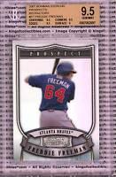 FREDDIE FREEMAN ROOKIE 2007 Bowman Sterling REFRACTOR BGS 9.5 GEM Braves #/199