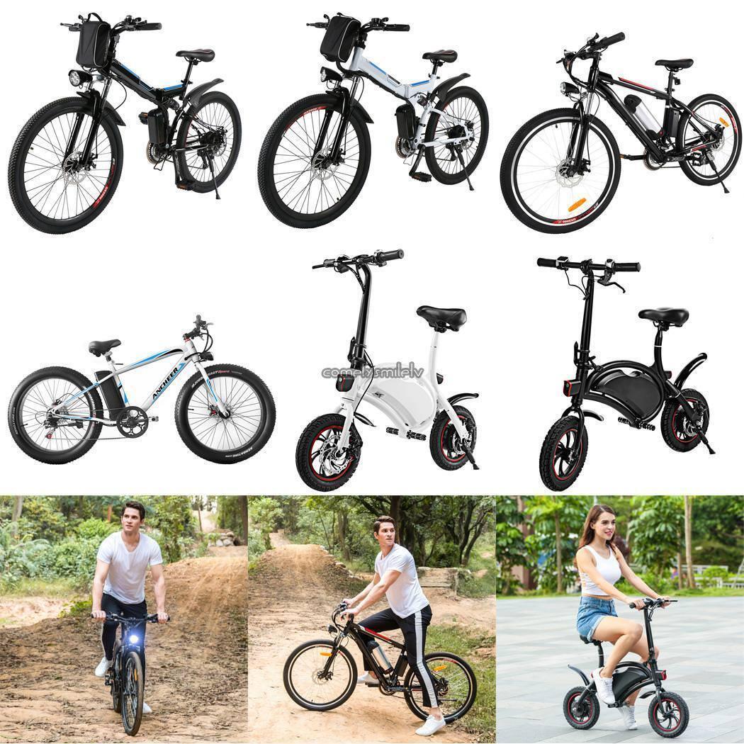 26  350W Fat Tire Electric Bicycle Bike Ebike Mountain Beach w  Lithium Battery