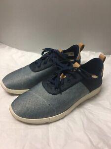 TOMS-Womens-Size-9-5-Navy-Denim-Cabrillo-Sneaker-Shoe-Blue