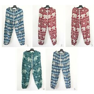 Women Trousers Yoga Pants Thai Chang Elephant Harem Hippie Boho Festival Beach Ebay