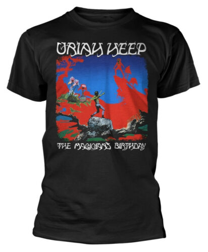 Uriah Heep /'The Magicians Birthday/' Black T-Shirt NEW /& OFFICIAL!