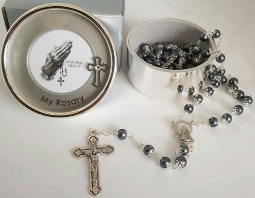 Baby Boy MY FIRST ROSARY Beads Blue  Childrens Christening communion baby shower