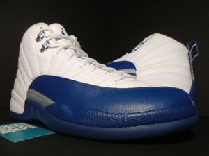 75a10a6d917063 NIKE AIR JORDAN XII 12 RETRO WHITE FRENCH BLUE SILVER RED BRED WINGS ...