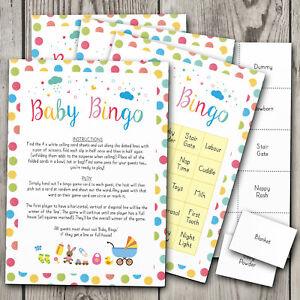 Baby Bingo! Baby Shower Games Bingo ~ Boy / Girl / Unisex (20 Player)