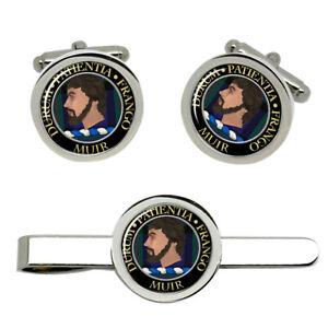 Muir-Scottish-Clan-Cufflinks-and-Tie-Clip-Set