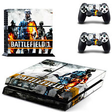 Sony PS4 Console and Controller Skins / Decal -- Battlefield I Design 1 (#0415)