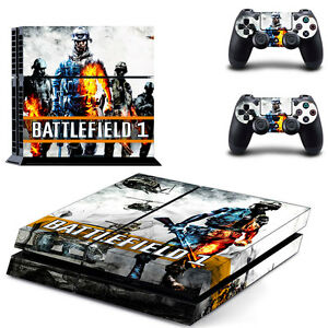 Persevering Sony Ps4 Console And Controller Skins / Decal #0415 Battlefield I Design 1 Soft And Antislippery