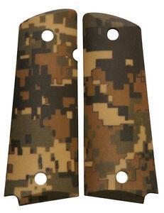 Custom-Full-Size-1911-Grips-Ambidextrous-Digital-Woodland-Camo-Colt-Kimber-Ruger
