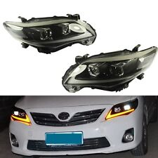Head Lights Lamps Driver Passenger Side For 2011 2012 2013 Toyota Corolla Sedan