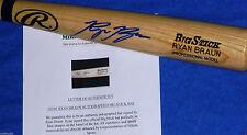 Milwaukee Brewers Ryan Braun Autographed Auto RB PRO Model Baseball Bat Holo COA