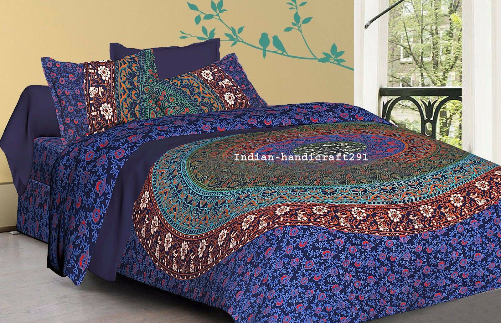 Indian Mandala Duvet Cover Boho Queen Quilt Comforter Cover Bohemian Bedding Set