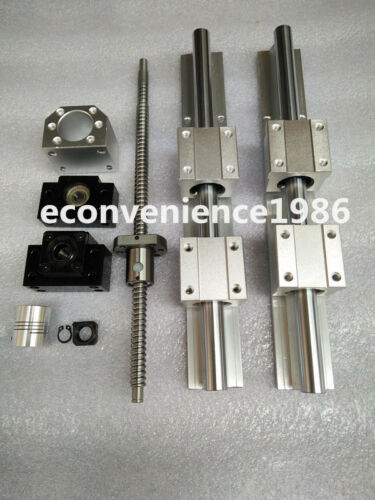 2 x SBR20-1000mm linear rail guides 2 ballscrew RM1605-1065mm BK//BF12 /&coupling