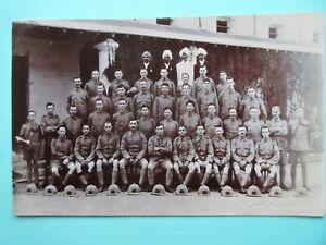 SOMERSET-LIGHT-INFANTRY-POSTCARD-WW1-1914-1918-MILITARY-GROUP-PHOTO