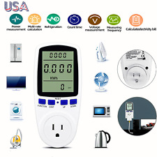 Lcd Digital Power Meter Consumption Energy Auto Analyzer Amp Electricity Monitor