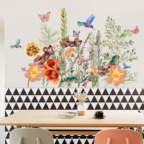 Flower Bird Butterfly Removable Wall Sticker Window Room Decor Mural Art Home