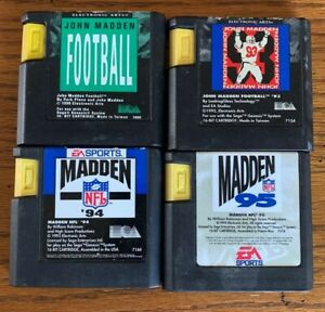 Bundle Of 4 Sega Genesis NFL Madden Football Games 91, 93, 94, 95