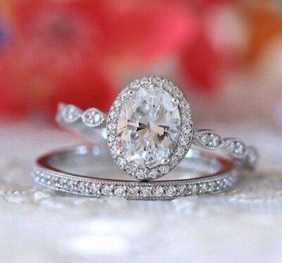 Certified 2.80ct White Round Diamond Engagement Wedding Ring in 14k White Gold