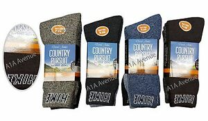 3/6/12 Pares De Para Hombre Calcetines Calor Resistente caminata de Invierno Calcetines Térmicos Boot Zapato
