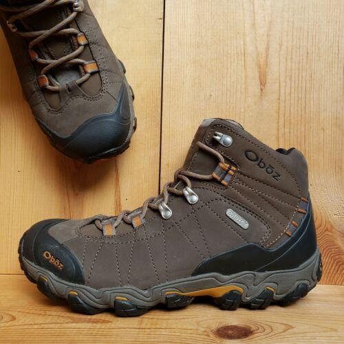 Oboz Men's size 10 Bridger Brown Leather B-Dry Wat
