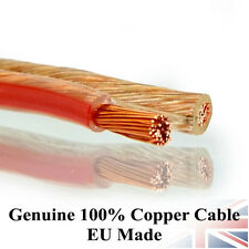 100% OFC 2x 1.5mm Loud Speaker Wire Cavo in rame ORIGINALE AUDIO HIFI AUTO 20 Metro