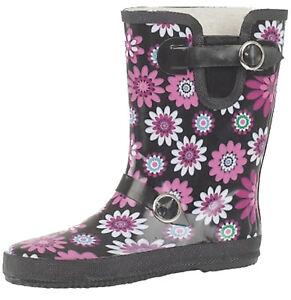 Ladies-Flower-Print-Wide-Calf-Short-Willington-Boots-Funky-Festival-Wellies