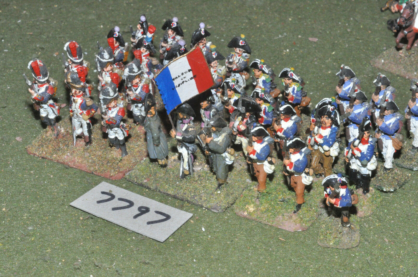 25mm napoleonic   french - revolutionary war infantry 36 figs metal - inf (7797)