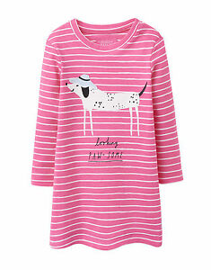 JOULES Tom Joule Kleid BABYKAYE pink mit Hund Gr. 68 - 92 NEU