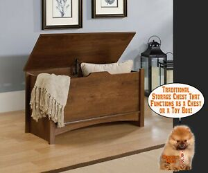 Details About Storage Chest Toy Box Wood Trunk Stow Away Bench Clothes Quilt Home Bedroom Hall