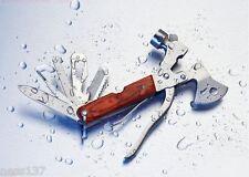Marteau Multifonction Hache Couteau Pince Scie Camping Chasse Peche Bivouac..
