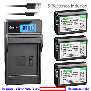 Kastar-Battery-LCD-Charger-for-Sony-NP-FW50-BCTRW-amp-Sony-ILCE-5100-Alpha-a5100