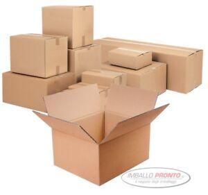 5 pezzi SCATOLA DI CARTONE imballaggio spedizioni 100x10x10cm  scatolone avana