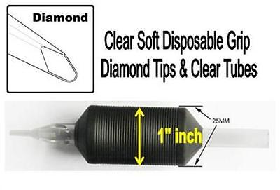 """5 Round Tip 1"""" Sg Disposable Grip Clear Tubes 10-20-30-40-50-60 Tattoos & Body Art Health & Beauty 5rt"""