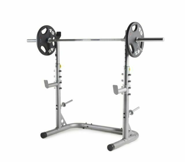 Weider Xrs 20 Olympic Squat Rack With Adjustable Safety Spotters And Bar Holds Webe20615 For Sale Online Ebay