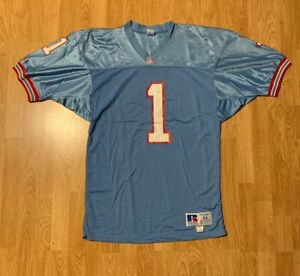 Details about Vintage Russell Athletic Warren Moon Houston Oilers Jersey Size 44